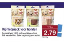kipfiletsnack voor honden