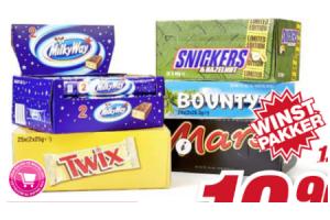 mars snickers milky way twix malteser bar of bounty