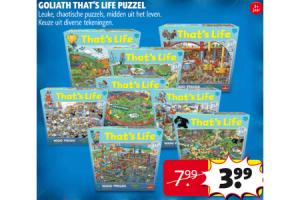 Goliath that's life puzzel nu voor €3,99 - Beste.nl