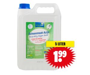 Schoonmaakazijn 5 Liter Aldi.Groenland Schoonmaakazijn