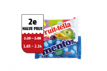 mentos fruittella of meller rollen