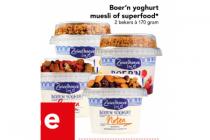 boern youghurt muesli of superfood