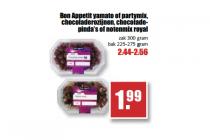 bon appetit yamato of partymix chocoladerozijnen chocoladepindas of notenmix royal