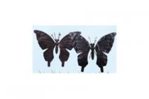 action decoratievlinder zwart