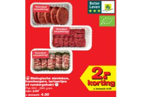 biologische slavinken hamburgers tartaartjes of hamburgers