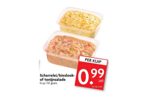 scharreleibieslook  of tonijnsalade