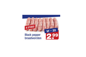 black pepper braadworsten