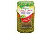 bonduelle doperwtjes  worteltjes special touch