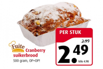 fuite cranberry suikerbrood