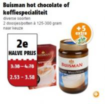 buisman hot chocolate of koffiespecialiteiten