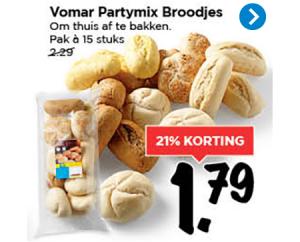 vomar partymix broodjes