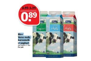 bioplus verse melk karnemelk of yoghurt 1 liter