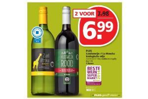 plus landenwijn of la mancha biologische wijn
