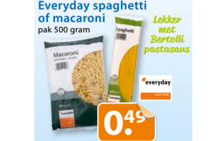 everyday spaghetti of macaroni