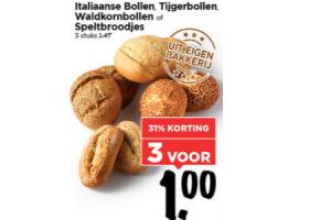 italiaanse bollen tijgerbollen waldkorn bollen en speltbroodjes