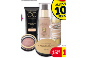 max factor foundation poeder bbcc cream en concealer