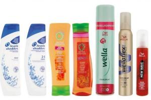wella new wave head  shoulders en herbal essences