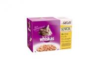whiskas senior gevogelte vlees selectie in gelei