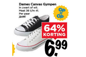 dames canvas gympen