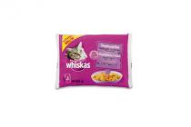 whiskas pouch gestoomde vis 4x