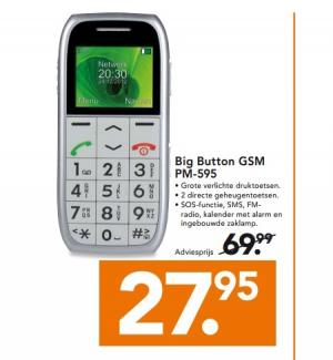 big button gsm pm 595