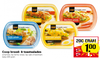 coop brood  en toastsalades