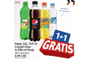 pepsi sisi 7up crystal clear