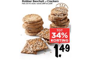 robber beschuit of crackers