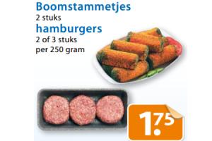 hamburgers of boomstammetjes
