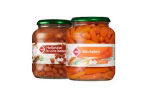 c1000 hollandse bruine bonen en worteltjes extra fijn 680 gram