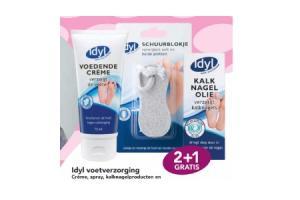 idyl voetverzorging creme spray kalknagels schuurblokjes