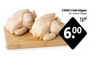 c1000 2 hele kippen