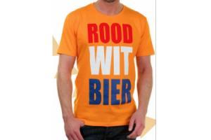 oranje heren t shirt met print