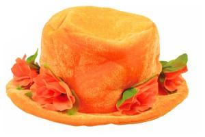 oranje hoed met rozen