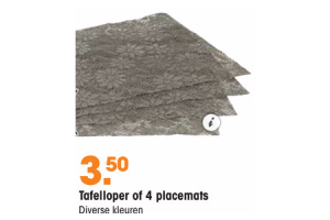 tafelloper of 4 placemats