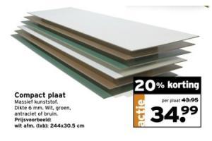 compact plaat