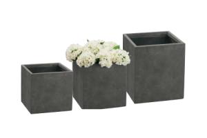 bloempot vierkant clay