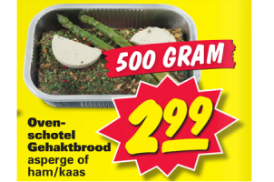 ovenschotel gehaktbrood asperge of hamkaas