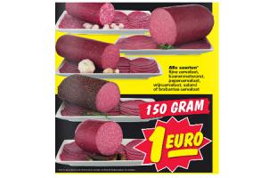 cervelaat boerenmetworst en salami