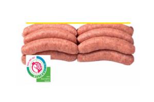 merkloos magere varkenssaucijzen