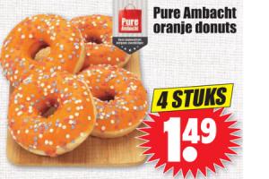 pure ambacht oranje donuts