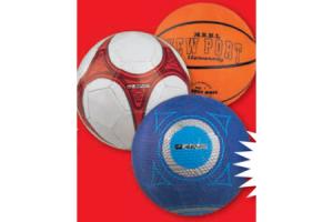 voetbal straatbal of basketbal