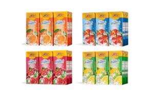 frisse fruitdrank pakjes