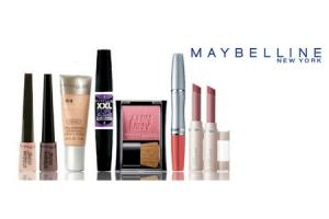 maybelline lip  en gezichtsmake up