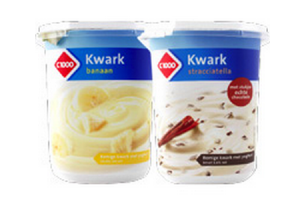 c1000 kwark banaan en stracciatella