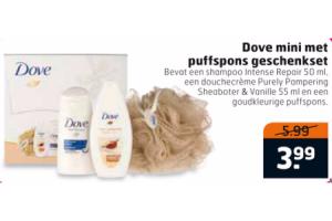 dove mini met puffspons geschenkset