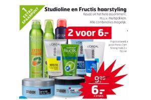 studioline en fructis haarstyling