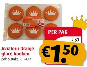 aviateur oranje glace koeken