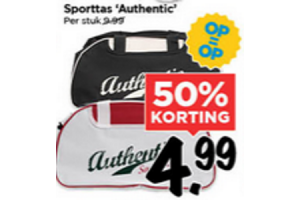 sporttas authentic