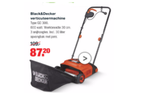 blackdecker verticuteermachine